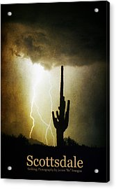 Scottsdale Arizona Fine Art Lightning Photography Poster Acrylic Print by James BO  Insogna