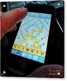 Scrabble Acrylic Print by Ron Bissett