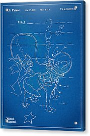 Scuba Doggie Patent Artwork 1893 Acrylic Print by Nikki Marie Smith