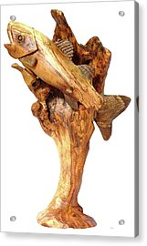 Sea Bass Sculpture Acrylic Print by Eric Kempson