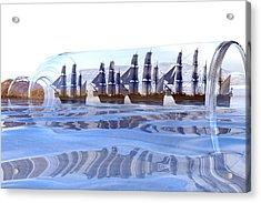 Bottled And Ready To Ship Acrylic Print by Betsy Knapp