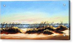 Sea Oats Acrylic Print by Michele Snell