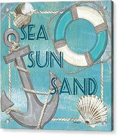 Sea Sun Sand Acrylic Print by Debbie DeWitt