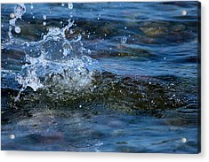 Sea Water Acrylic Print by Heike Hultsch