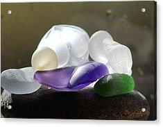 Seaglass Acrylic Print by Judy Bernier