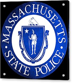 Seal Of The Massachusetts State Police Acrylic Print by Tom Lemmons