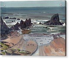 Seal Rock Oregon Acrylic Print by Donald Maier