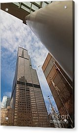 Sears Tower From Across The Street Acrylic Print by Sven Brogren