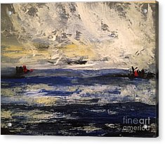 Seascape Acrylic Print by Trilby Cole