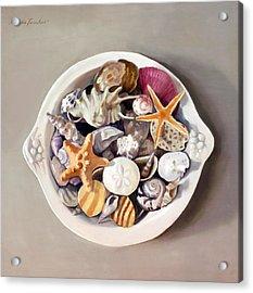 Seashells Acrylic Print by Linda Tenukas