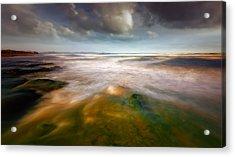 Seaside Abstraction Acrylic Print by Piotr Krol (bax)