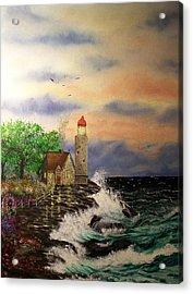 Seaside Vigil Acrylic Print by Laurie Kidd