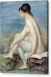 Seated Bather Acrylic Print by Renoir