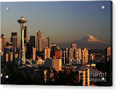 Seattle Equinox Acrylic Print by Winston Rockwell