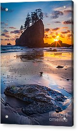 Second Beach Rock Acrylic Print by Inge Johnsson