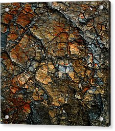 Sedimentary Abstract Acrylic Print by Dave Martsolf