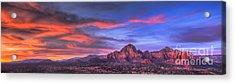 Sedona Arizona At Sunset Acrylic Print by Eddie Yerkish