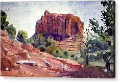 Sedona Butte Acrylic Print by Donald Maier