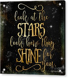 See How The Stars Shine Acrylic Print by Mindy Sommers