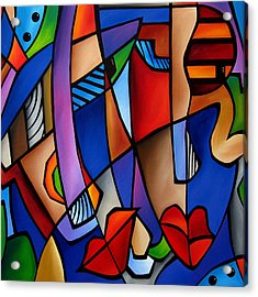 Seeing Sounds - Abstract Pop Art By Fidostudio Acrylic Print by Tom Fedro - Fidostudio