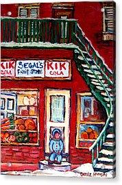 Segal's Market St.lawrence Boulevard Montreal Acrylic Print by Carole Spandau