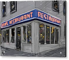 Seinfeld Restaurant Acrylic Print by Russell Pierce