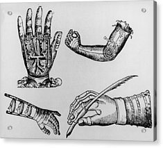 Selection Of 16th Century Artificial Arms & Hands. Acrylic Print by Dr Jeremy Burgess.