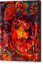 Self-portrait-5 Acrylic Print by Natalie Holland