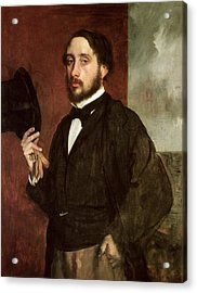Self Portrait Acrylic Print by Edgar Degas