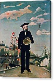 Self Portrait From Lile Saint Louis Acrylic Print by Henri Rousseau