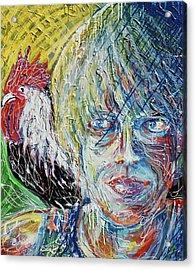 Self Portrait With Sammy Acrylic Print by Duncan James