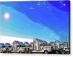 Semi Truckscape 1 Acrylic Print by Steve Ohlsen