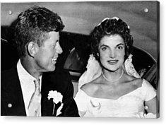 Senator John F. Kennedy, Jacqueline Acrylic Print by Everett