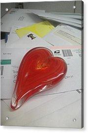 Sending You My Heart Through The Mail Acrylic Print by WaLdEmAr BoRrErO