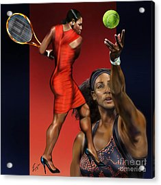 Sensuality Under Extreme Power - Serena The Shape Of Things To Come Acrylic Print by Reggie Duffie