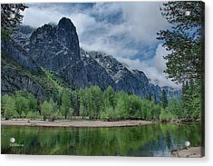 Sentinel Rock After The Storm Acrylic Print by Bill Roberts