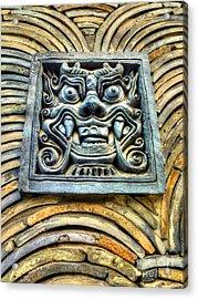 Seoul Mask Tile Acrylic Print by Michael Garyet
