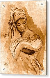 Sepia Madonna Acrylic Print by George Nock