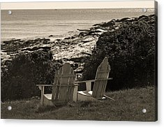 Sepia Seaside Retreat Acrylic Print by Lone  Dakota Photography