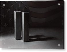 September 11, 2001 -  Never Forget Acrylic Print by Scott Norris