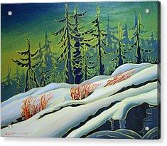 September Snow Acrylic Print by Santo De Vita