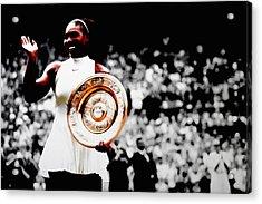 Serena 2016 Wimbledon Victory Acrylic Print by Brian Reaves
