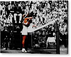 Serena Williams And Angelique Kerber Acrylic Print by Brian Reaves