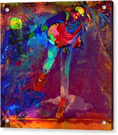 Serena Williams Return Explosion Acrylic Print by Brian Reaves