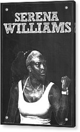 Serena Williams Acrylic Print by Semih Yurdabak