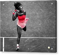 Serena Williams Strong Return Acrylic Print by Brian Reaves