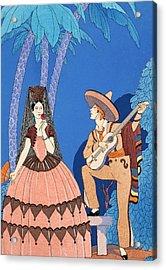 Serenade Acrylic Print by Georges Barbier