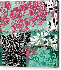 Serendipity Damask Batik II Acrylic Print by Mindy Sommers