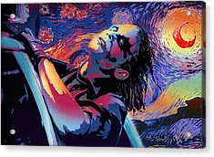 Serene Starry Night Acrylic Print by Surj LA