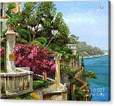 Serene Sorrento Acrylic Print by Trevor Neal